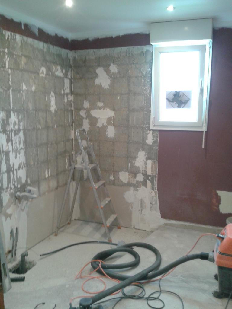 Salle de bains 1 Pendant Travaux