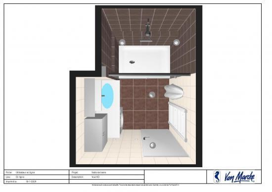 Plan en 3d salle de bains - Simulation cuisine 3d gratuit ...