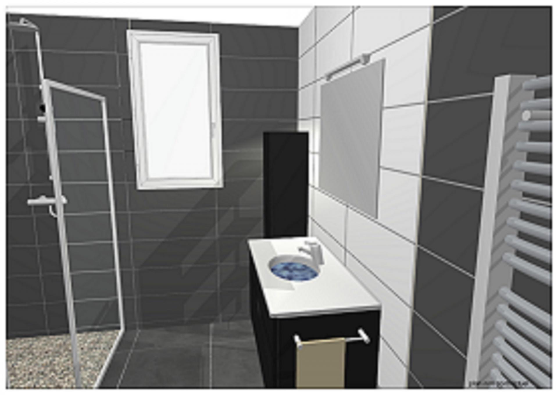 Etudes et plans cuisine salle de bains for Simulation salle de bain 3d